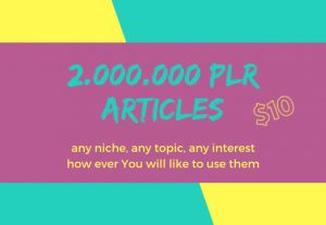 Get Over 2 000 000 Million PLR Articles, eBooks, Book Covers, Video Training, Bonuses and Giveaways