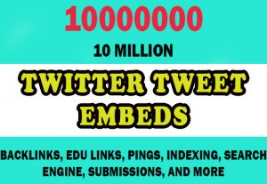10 Million Twitter Tweet Embeds for $4