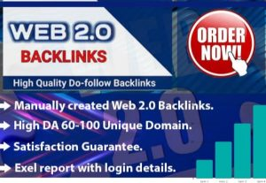 I will do web2.0 backlinks manually