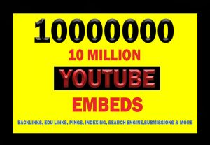 10 Million YouTube Video Embeds for $4