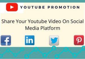 I will share youtube video on social media