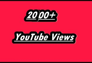 I Will Give 2000 + YouTube Real Views With Life Time Refill Guarantee
