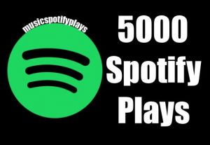 SPOTIFY 5,000 Real Safe HQ Streams Plays Music Advertisement Promotion