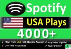 Get 4000 to 7000 ORGANIC Plays From HQ USA Accounts or 1500 Worldwide Followers, Real and Active Users, Guaranteed