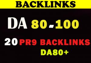 20  Pr9 DA80+  High Quality SEO Domain Authority Permanent Backlinks