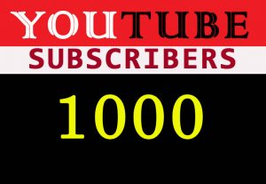 1000 YouTube Non-drop organic subscribers