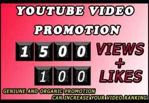 1500 High Retention Youtube Video Views with free 100 likes