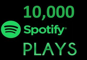 10,000 HQ Spotify Streams Plays Music Promotion