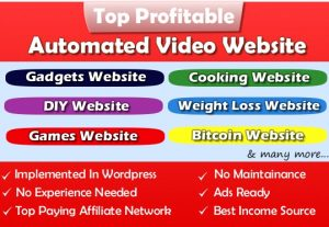 100% Automated Website – Huge Profitable Niche – Huge Potential – Newbie Friendly Website – Easy to Manage.