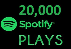 20,000 HQ Spotify Streams Plays Music Promotion