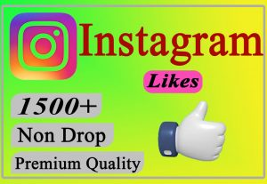 I will Give You 1500+ Instagram Likes Lifetime Non Drop.