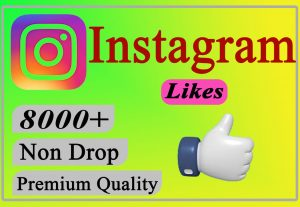 I will Give You 8000+ Instagram Likes Lifetime Non Drop.