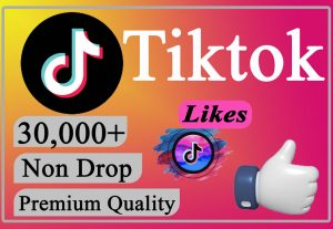 I will Give You 30000+ TikTok Likes LIFETIME Non-Drop.