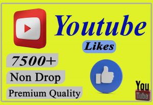 I will provide you 7500+ YouTube Video likes Non-drop and Lifetime.
