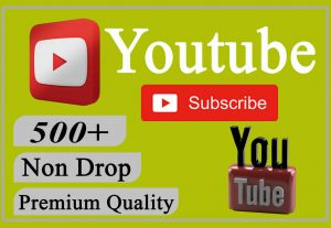 I will provide you 500+ YouTube Video Subscribers Non-drop and Lifetime.