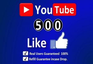 Get Instant  500+ YouTube Real Likes in Your Video Non-Drop / incase Life Time Refill Guarantee