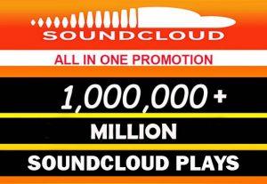 1,000,000+ (1 Million) SOUDCLOUD PLAYS