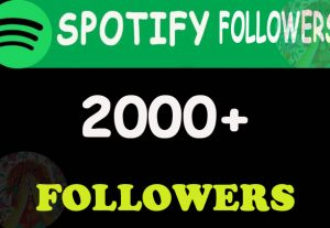 2000+ High quality  Spotify Followers