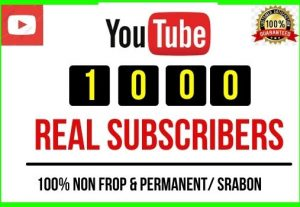 Get 1000+ Youtube Real Subscribers, Non-drop and lifetime Permanent