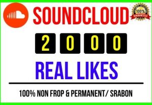 Get Instant 2000+ SoundCloud Real Likes, 100% real, Non-drop and Lifetime Permanent