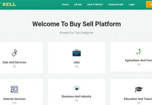 Classified website in custom PHP – buy sell – classified