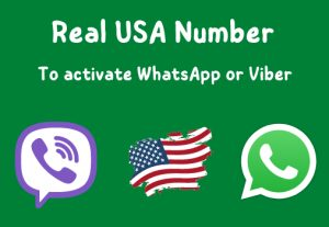Activate WhatsApp or Viber with a real USA number