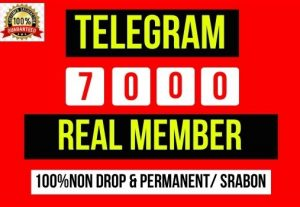 Get Instant 7000+ Telegram Real Member, It's Non-drop and lifetime permanent, Guaranteed service