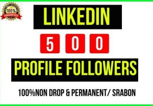 Add Instant 500+ Linkedin Profile/Page Followers, It's Non-drop and lifetime permanent, Guaranteed service