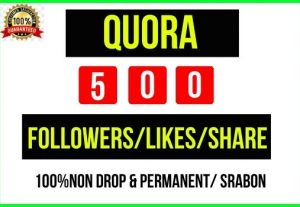 Add Instant 500+ Quora Profile/Likes/Share, It's Non-drop and lifetime Permanent, Guaranteed service
