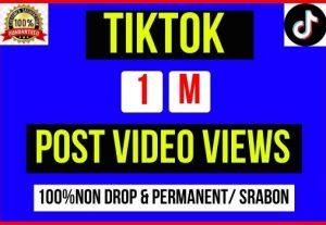 Get Instant 1M+ TikTok Video Post Views, 100% Non-drop, Lifetime Permanent
