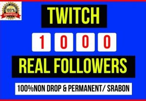 Add Instant 1000+ Twitch Real Followers, 100% real, Non-drop and Lifetime Permanent