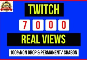 Get Instant 7000+ Twitch real views, It's Non-drop and lifetime permanent, Guaranteed service