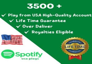 Get 3500 ORGANIC Plays From HQ USA Accounts or 2500 USA Followers, Real and Active Users, Guaranteed