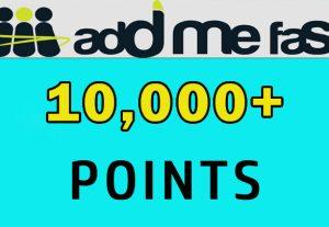 10000+ AddMeFast points 100% safe, fast delivery