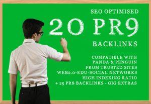 80+ DA 20 PR9 high quality SEO domain authority permanent backlinks
