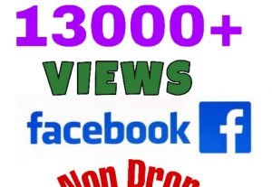 I will add 13000+ Views on Facebook Video post . Lifetime Guaranteed.