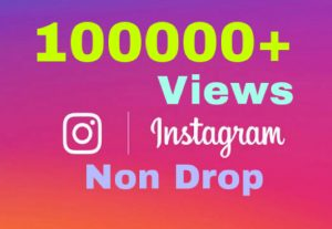 I will add 100000+ Views on Instagram Video Post ! Non Drop!