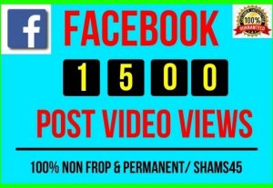 Get Instant 15000+ Real Facebook Post Views, all are Non-drop and Lifetime permanent