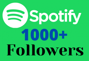 I Will Give 1000+ Spotify Followers Real High Quality & Non-Drop Service