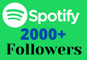 I Will Give 2000+ Spotify Followers Real High Quality & Non-Drop Service
