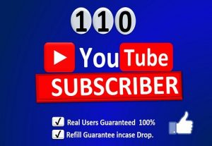 Get Organic 110+ YouTube-Subscriber From WW HQ account in your Channel, Non-Drop, Real Active Users