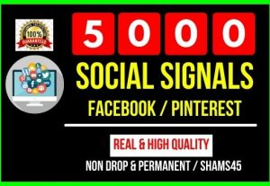 I Will Provide 5000 Social Signals Facebook Twitter Pinterest- all are non drop and Permanent