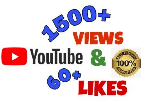I will add 1500+ Views & 60+ Likes on YouTube post .High Quality.