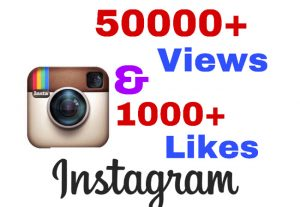 I will add 50000+ Video views & 1000+ likes on Instagram video post !