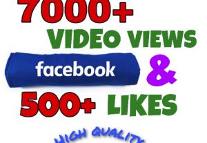 I will add 7000+ Video Views & 500+ Likes on Facebook Video Post ! High Quality!