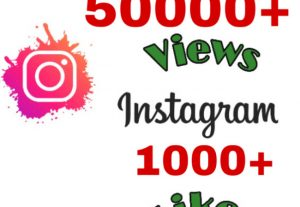 I will add 50000+ Views & 1000+ Likes on Instagram video post . Non drop & Fast .