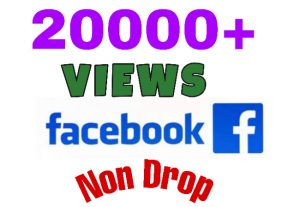 I will add 20000+ Views on Facebook Video post . Lifetime Guaranteed.