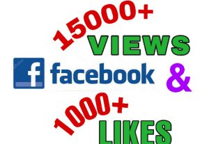 I will add 15000+ Views & 1000+ Likes on Facebook Video post . Non drop!