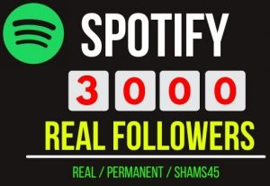 Add Instant 3000+ Spotify Real Followers, Non drop and permanent , Guaranteed service
