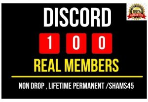 Get 100+ Discord Real member, Lifetime permanent, and Non-drop